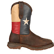 "Durango Men's Rebel Texas Flag 11"" Waterproof Steel Toe Work Boots"