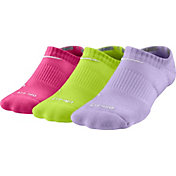 Nike Kids' Dri-FIT Cushion No Show Athletic Socks 3 Pack