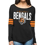 '47 Women's Cincinnati Bengals Courtside Black Long Sleeve Shirt