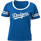5th & Ocean Women's Los Angeles Dodgers Royal Scoop Neck Shirt