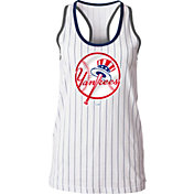 5th & Ocean Women's New York Yankees Pinstripe White Tank