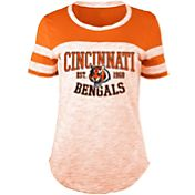 5th & Ocean Women's Cincinnati Bengals Space Dye Orange T-Shirt