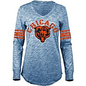 5th & Ocean Women's Chicago Bears Space Dye Navy Long Sleeve Shirt