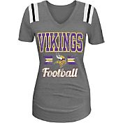 5th & Ocean Women's Minnesota Vikings Grey V-Neck T-Shirt