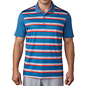 adidas Men's Advantage Stripe Golf Polo