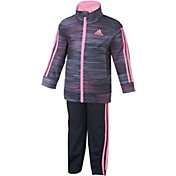 adidas Infant Girls' Printed Tricot Jacket and Pants Set