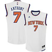 adidas Men's New York Knicks Carmelo Anthony #7 Home White Replica Jersey