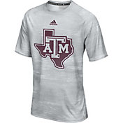 adidas Men's Texas A&M Aggies Grey Sideline Training T-Shirt