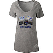 adidas Women's San Jose Earthquakes Grey Tri-Blend T-Shirt