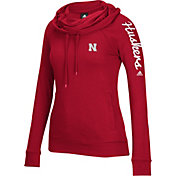 adidas Women's Nebraska Cornhuskers Scarlet Tunnel Neck Long Sleeve Shirt