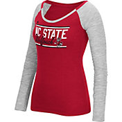 adidas Women's NC State Wolfpack Red Double Bar Long Sleeve Shirt