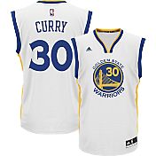 adidas Youth Golden State Warriors Steph Curry #30 Home White Replica Jersey
