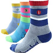 Adrenaline Kids' Mesh Top Crew Lacrosse Socks 3 Pack