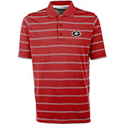 Antigua Men's Georgia Bulldogs Red Deluxe Performance Polo