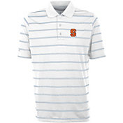 Antigua Men's Syracuse Orange Deluxe Performance White Polo