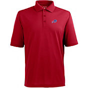 Antigua Men's Buffalo Bills Pique Xtra-Lite Red Polo
