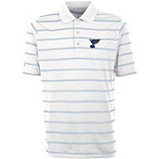Antigua Men's St. Louis Blues Deluxe White Polo Shirt