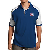 Antigua Men's Montreal Canadiens Royal/White Century Polo