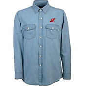 Antigua Men's New Jersey Devils Chambray Button-Up Shirt