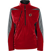 Antigua Men's Calgary Flames Discover Red Half-Zip Pullover Jacket