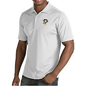 Antigua Men's Pittsburgh Penguins Inspire White Polo