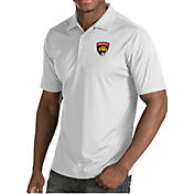Antigua Men's Florida Panthers Inspire White Polo