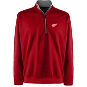 Antigua Men's Detroit Red Wings Leader Red Quarter-Zip Pullover Jacket