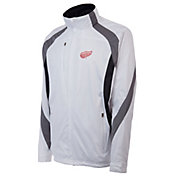 Antigua Men's Detroit Red Wings Tempest White Full-Zip Jacket