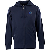 Antigua Men's Buffalo Sabres Navy Full-Zip Fleece Hoodie