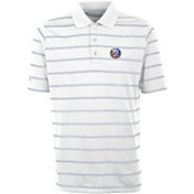 Antigua Men's New York Islanders Deluxe White Polo