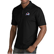 Antigua Men's Colorado Avalanche Inspire Black Polo