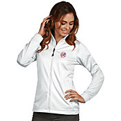 Antigua Women's New York Yankees Full-Zip White Golf Jacket