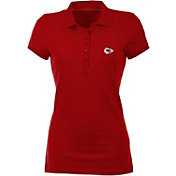 Antigua Women's Kansas City Chiefs Red Spark Polo