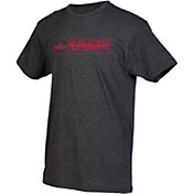 boxercraft Men's Dixie State Red Storm Grey Just for You Crew Block Wordmark and Logo T-Shirt