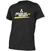 boxercraft Youth Appalachian State Mountaineers Grey Just for You Crew Wordmark and Logo T-Shirt
