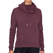 Betsey Johnson Performance Women's Funnel Neck Pullover Fleece Sweatshirt