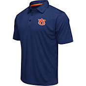 Colosseum Athletics Men's Auburn Tigers Blue Heathered Performance Polo