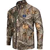 Colosseum Athletics Men's Notre Dame Fighting Irish Camo Decoy Quarter-Zip Wind Shirt