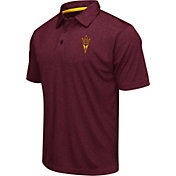 Colosseum Athletics Men's Arizona State Sun Devils Maroon Heathered Performance Polo
