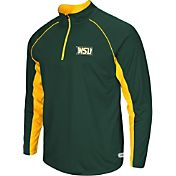 Colosseum Athletics Men's Wright State Raiders Green Airstream Quarter-Zip Windshirt