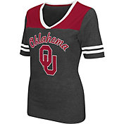Colosseum Athletics Women's Oklahoma Sooners Grey Twist V-Neck T-Shirt