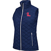 Colosseum Athletics Women's Ole Miss Rebels Blue Elite Quilted Vest