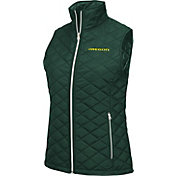 Colosseum Athletics Women's Oregon Ducks Green Elite Quilted Vest