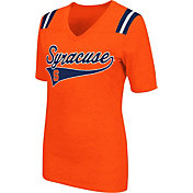 Colosseum Athletics Women's Syracuse Orange  Artistic V-Neck Orange T-Shirt