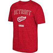 CCM Men's Detroit Red Wings Stitches Needed Red T-Shirt