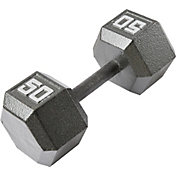 Fitness Gear 50 lb Cast Hex Dumbbell