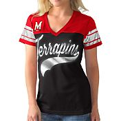 G-III For Her Women's Maryland Terrapins Black/Red Pass Rush T-Shirt