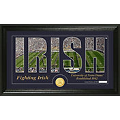 Highland Mint Notre Dame Fighting Irish Framed 'Silhouette' Bronze Coin Photo Mint
