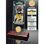 The Highland Mint Green Bay Packers Clay Matthews Ticket and Bronze Coin Desktop Display