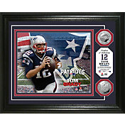 The Highland Mint New England Patriots Tom Brady Framed Silver Coin Photo Mint